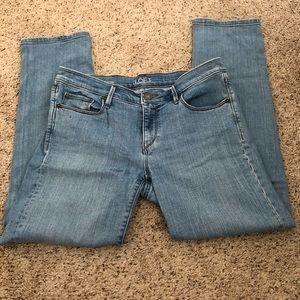 Ann Taylor Loft Modern Cuff Cropped Jean